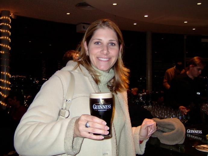 Enjoying my very first Guinness!