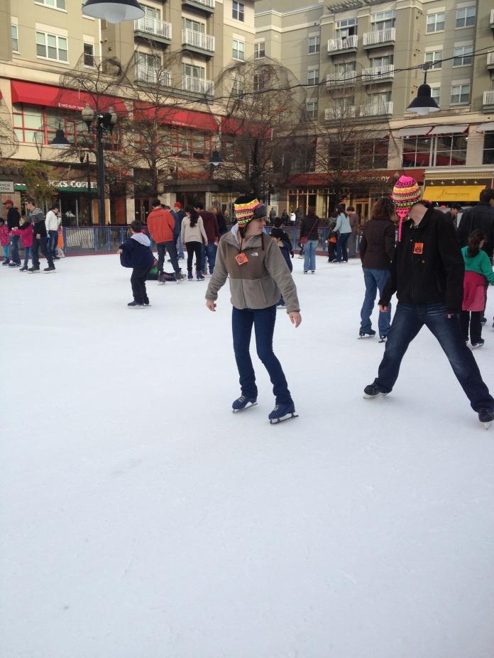 Victoria showing off skating backwards