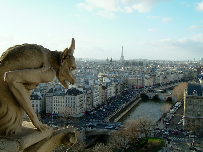 View of Paris from Notre Dame bell tower