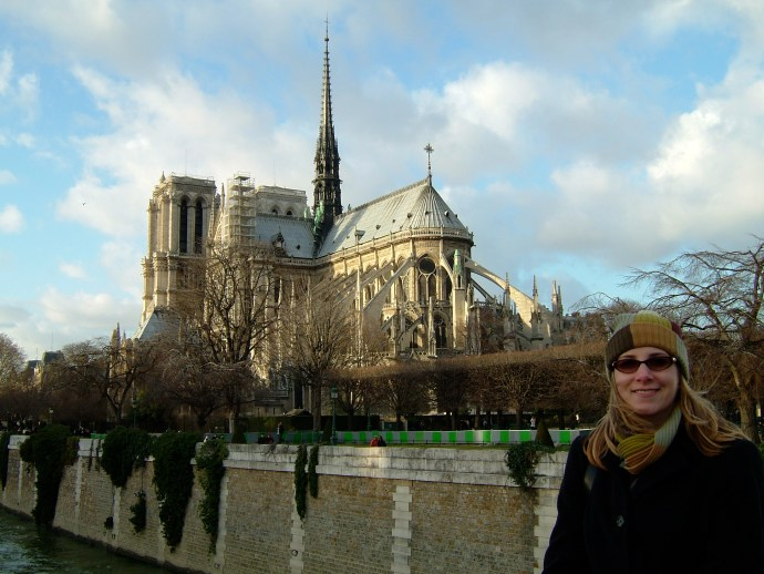 Notre Dame in the background