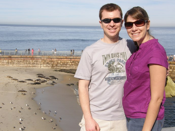 Checking out the seals at La Jolla