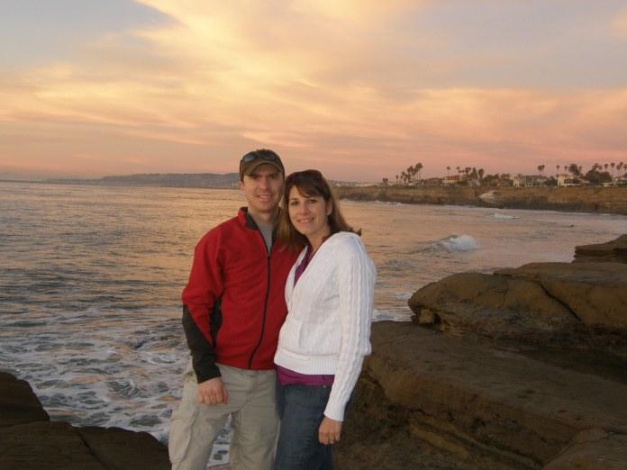 Watching the sun set at Sunset Cliffs