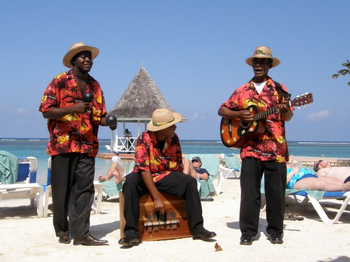 Jamaican Beach Performers