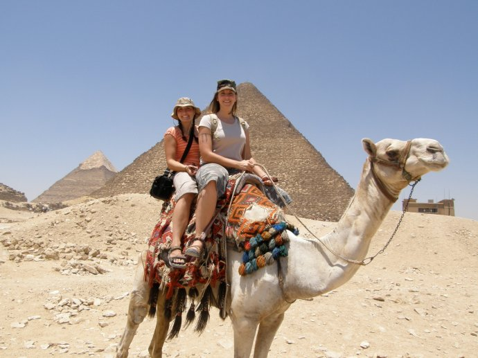 Camel ride around the Great Pyramid of Giza