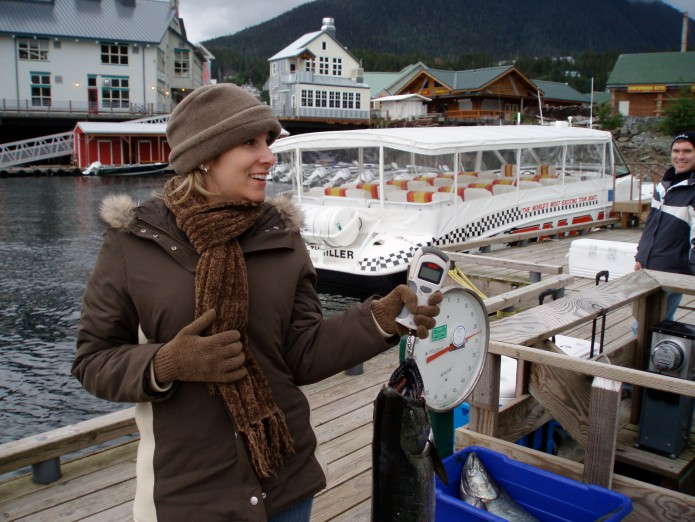 We brought this guy onto our cruise ship and the chef cooked it for us.  Best salmon ever!