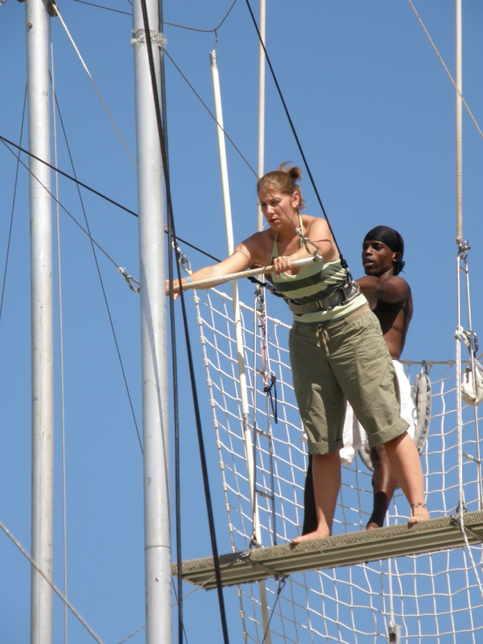 My first ever trapeze attempt!  Let's just say I didn't rock it...