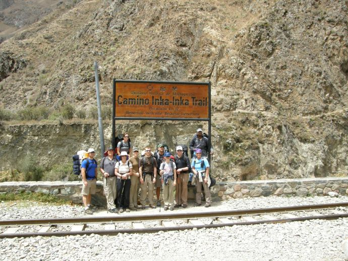 Group Photo at the start of the Inca Trail