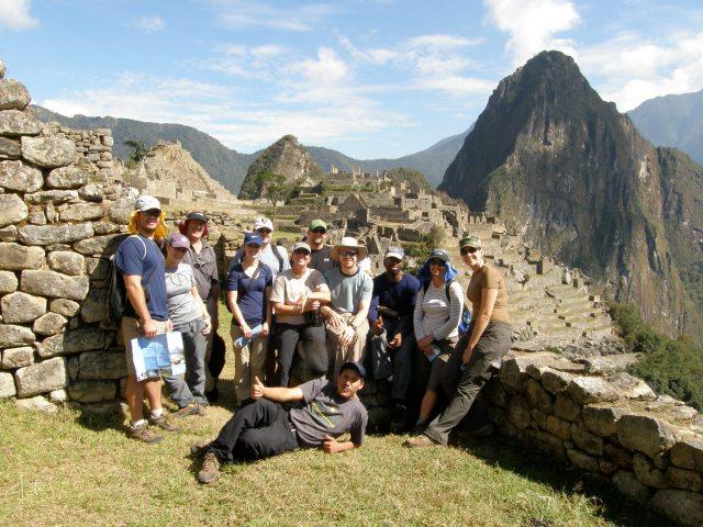 Group Photo at Machu Picchu.