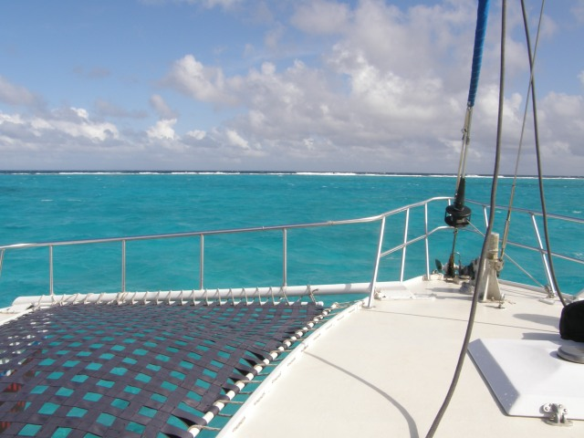 Catamaran to Sting Ray City