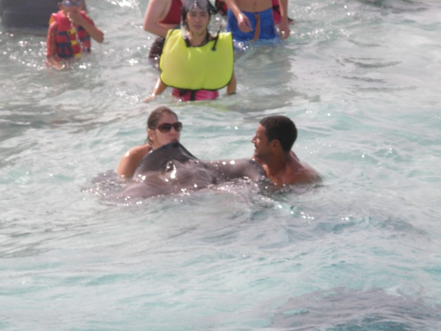 The second time wasn't any less scary.  But this time I kissed a sting ray!
