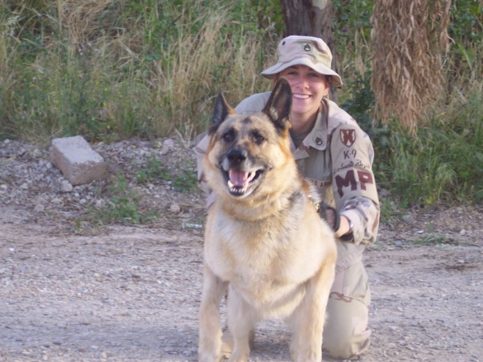 Me & MWD Lucky (Best bomb dog ever!)