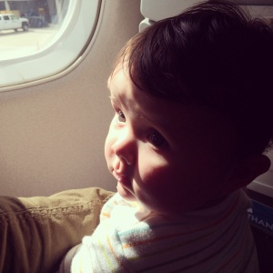 Ella's very first flight