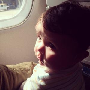 Ella's very first flight